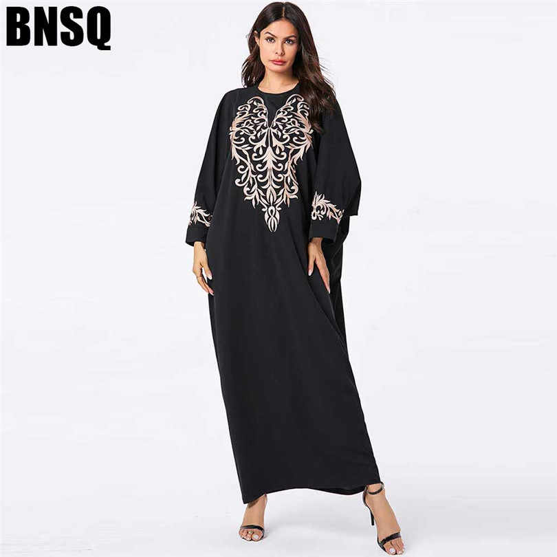 שחור העבאיה קפטן דובאי מוסלמי שמלת תורכי אסלאמיים לנשים חיג 'אב שמלות קפטן Tesettur Elbise חלוק Djelaba Femme