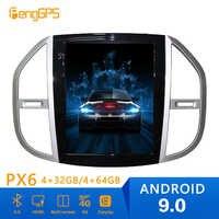 Android 9,0 Tesla Stil Auto Radio Vertikale Bildschirm Für Mercedes-Benz Vito 2016 + GPS Navigation Recorder Multimedia Keine CD-Player