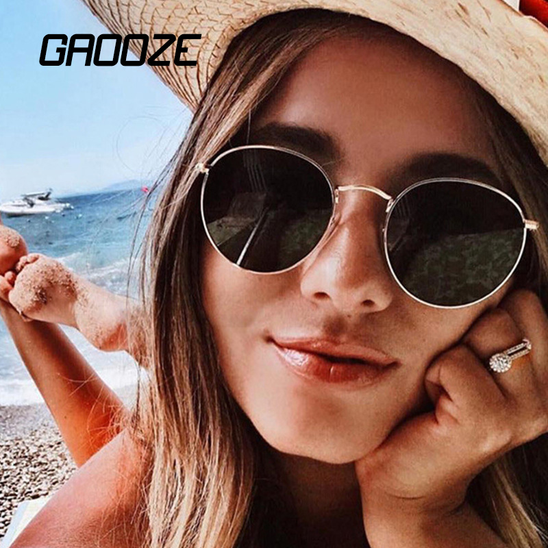 GAOOZE Sunglasses Women Round Glasses For Travel Women's Sunglasses Branded Sunglasses Women Vintage Sunglass Oculos LXD11