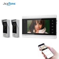 Jeatone 7 Inch Wireless WIFI Smart IP Video Doorbell Intercom System with with x720P Waterproof Door Phone Camera,Support Record