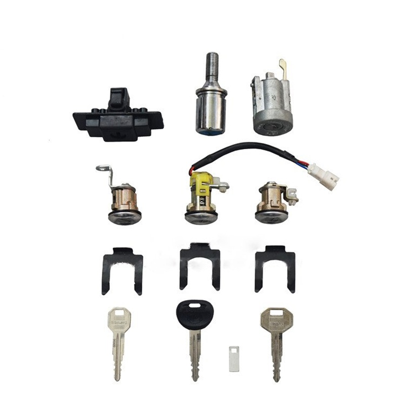 Allumage de voiture + boîte à gants + pneu de secours + cylindre de verrouillage de porte et jeu de clés pour Mitsubishi Pajero montero MK2 2nd V32 4G54
