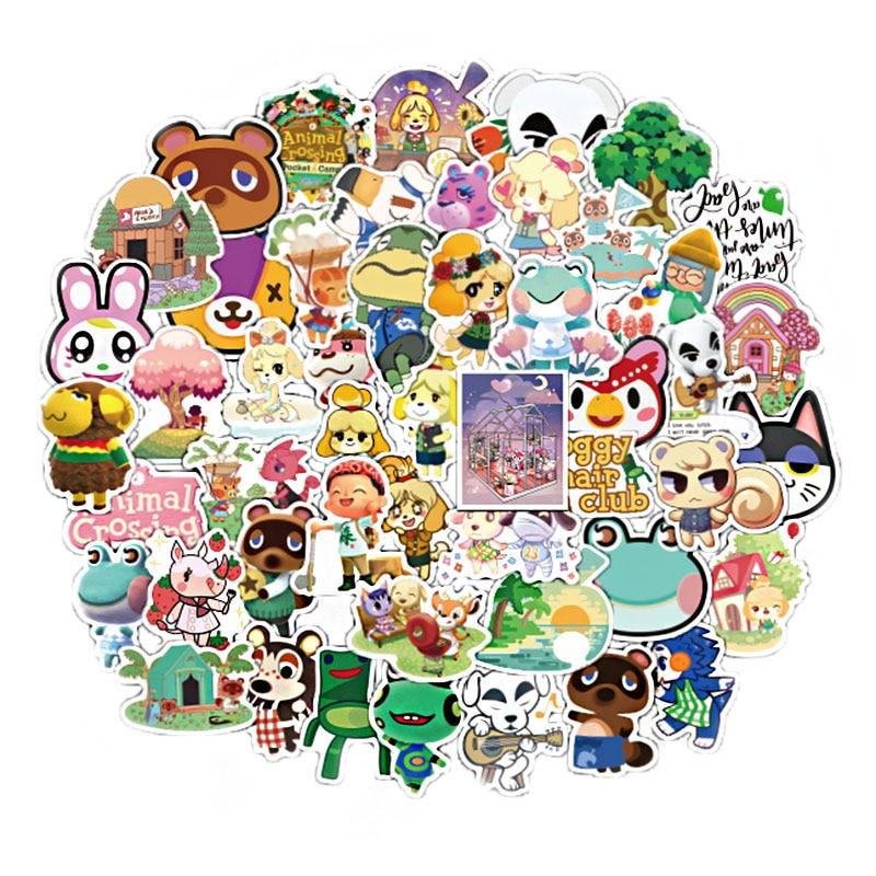 50Pcs Game Animal Crossing Cartoon Animation Sticker ForComputer Motorcycle Skateboard Guitar Toy Game Machine Children Gift