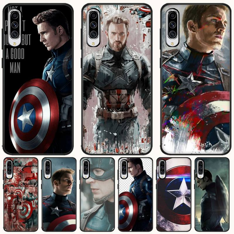 Captain America <font><b>Case</b></font> Coque Fundas Etui For <font><b>Samsung</b></font> Galaxy A10 A20 A30S <font><b>A40</b></font> A50 A51 A70 A71 Note 8 9 10 <font><b>Cases</b></font> Cover image