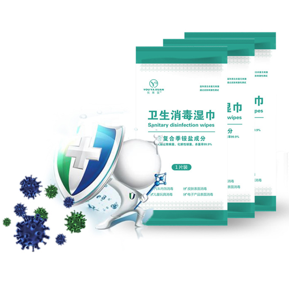 50 Pcs Portable Disinfection Antiseptic Pads Alcohol Swabs Wet Wipes Skin Cleaning Sterilization First Aid Cleaning Tissue