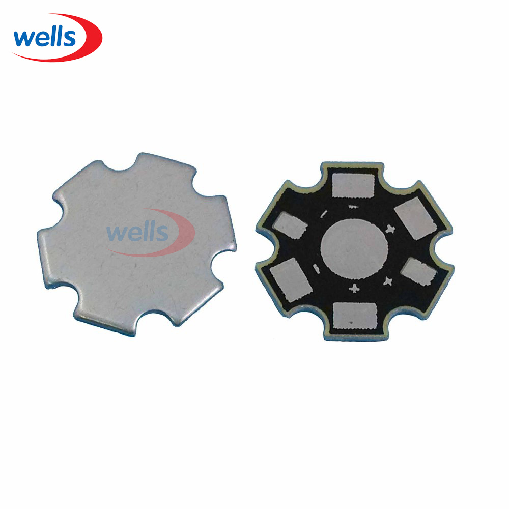 50pcs High Power 1w /3w /5w Watt LED Heat Sink Aluminum Base Plate 20 mm LED board KIT DIY high quality star heatsink