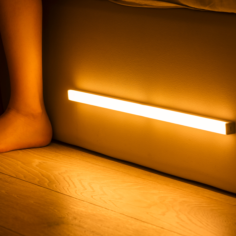 2020 LED Night Light Motion Sensor Wireless USB Rechargeable 20 30 40 50cm Night lamp For Kitchen Cabinet Wardrobe Wall Lamp(China)