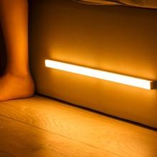 Plutus-quinn LED veilleuse capteur de mouvement sans fil USB Rechargeable 20 30 40 50cm lampe de nuit pour armoire de cuisine lampe de garde-robe