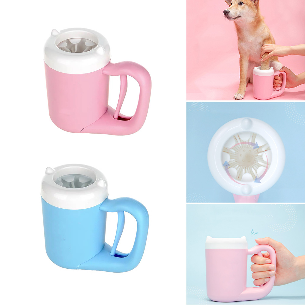 Pet <font><b>Dog</b></font> <font><b>Paw</b></font> <font><b>Cleaner</b></font> Cup Cat <font><b>Dog</b></font> Foot <font><b>Cleaner</b></font> Cup Pet Feet Cleaning Soft <font><b>Paw</b></font> Foot Brush Dirty Feet Washing Pet Cleaning Supplies image