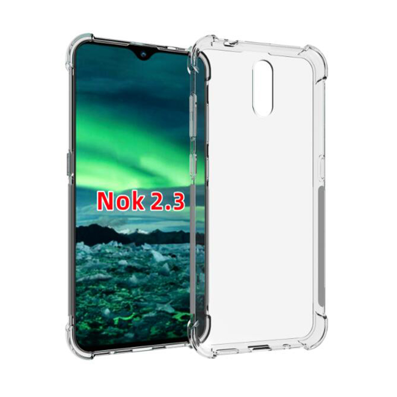 For Nokia 2.3 Case Hevay Duty Airbag Shockproof Soft TPU Case Cover For Nokia 2.3 TA-1211 TA-1214 TA-1206 TA-1209 6.2inch