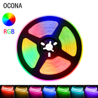 COB RGB LED Streifen Lichter Dekoration für Wand Schlafzimmer Farbe 840LED DC 24V 12V Flexible Band Diode Band TV Spiel Hintergrundbeleuchtung DIM