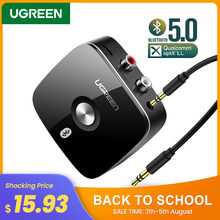Ugreen Bluetooth RCA Receiver 5.0 AptX LL 3.5Mm Jack Aux Adaptor Nirkabel Musik untuk TV Mobil RCA Bluetooth 5.0 3.5 Audio Receiver(China)