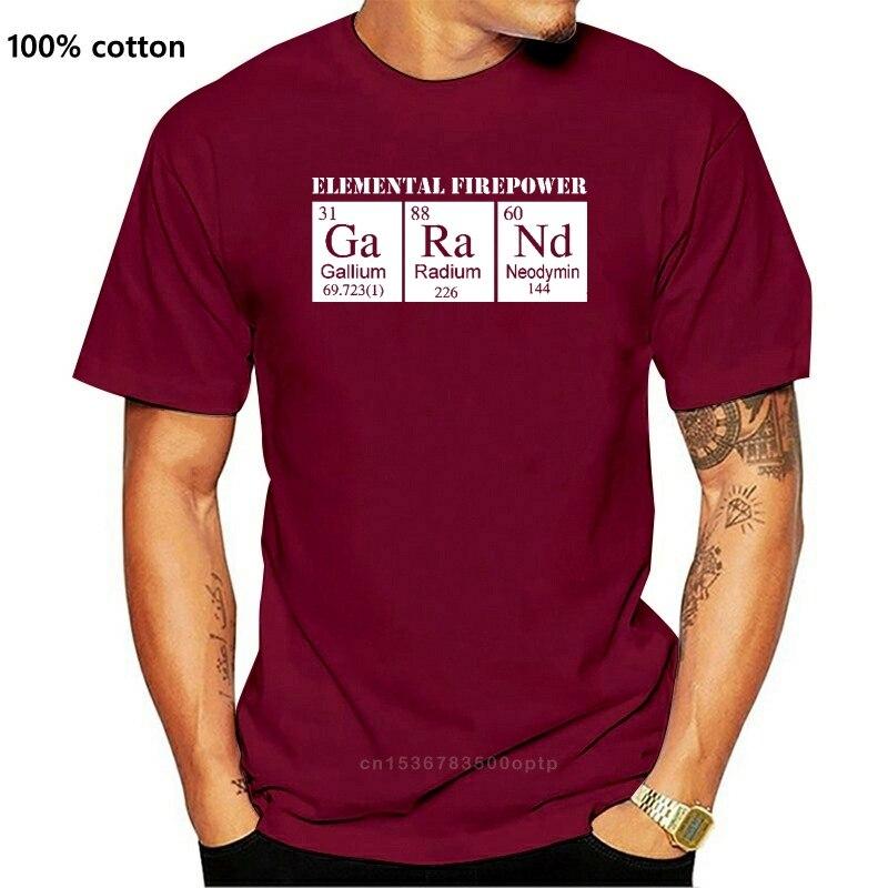 2020 горячая Распродажа элементарной огневой мощи M1 Garand периодической таблицы элементов футболка Вторую мировую войну WRA слинг футболка