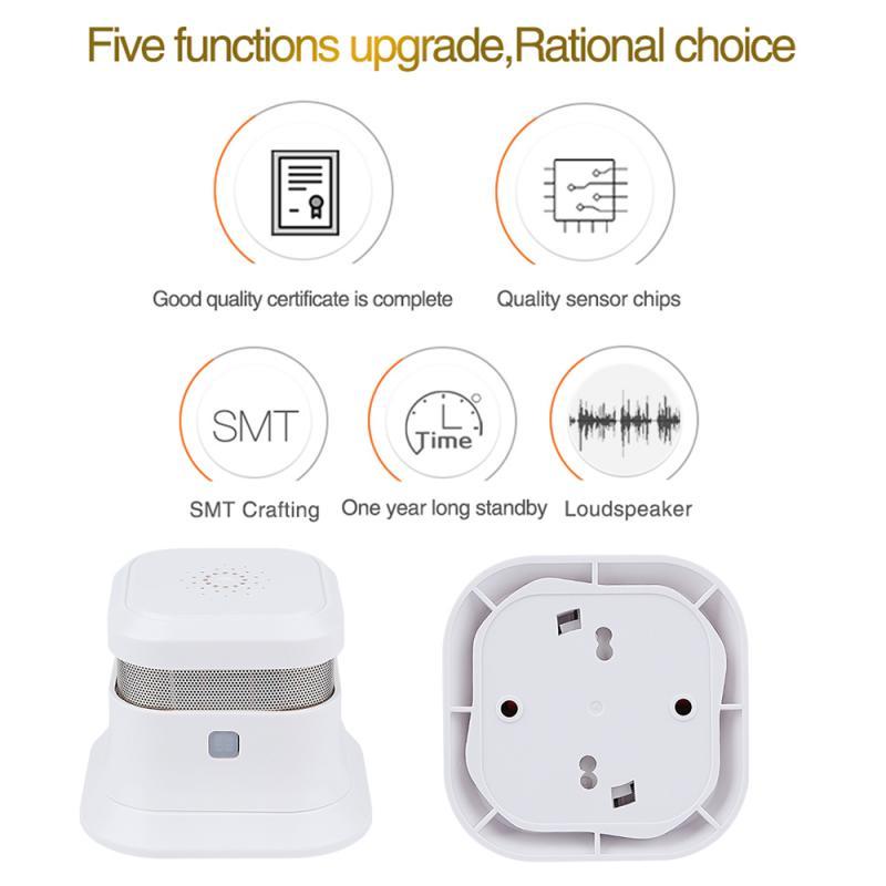 2019 New Smoke Detector Fire Alarm ABS Fire Retardant Extended Battery Life Smoke Detector Sensor UK