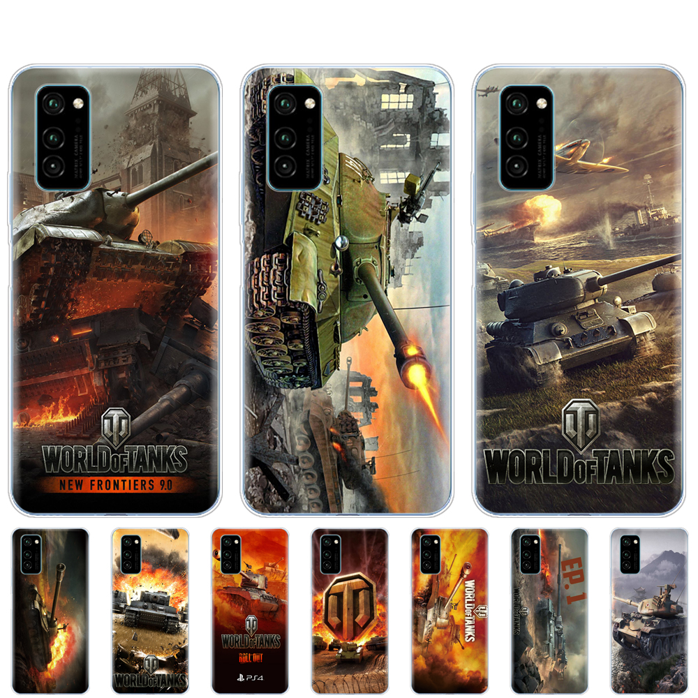 <font><b>Silicon</b></font> <font><b>Case</b></font> For <font><b>HONOR</b></font> 20 lite view 30 v 30 pro Coque Bumper For huawei Y5P <font><b>honor</b></font> 20S 9A 9C 9S 9X Premium <font><b>7s</b></font> 8a world of tanks image