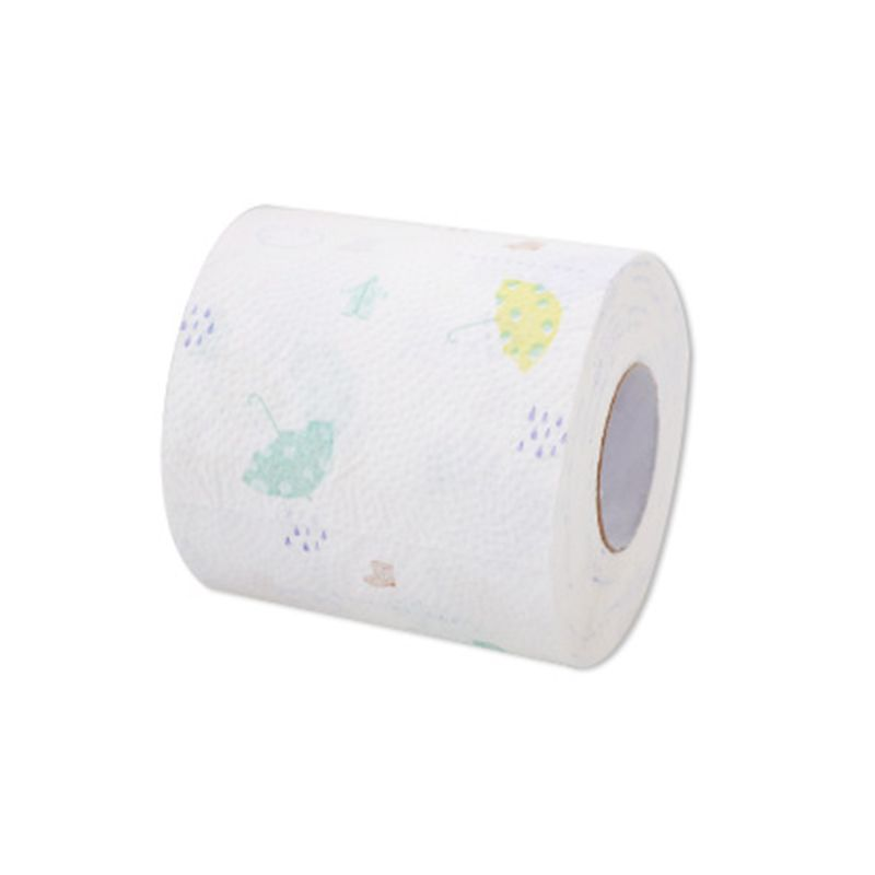 12 Rolls 3-Layers Thickened Extractable Toilet Paper Soft Wood Pulp Pumping Tiss