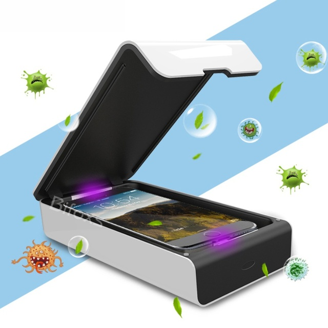 Uv Desinfecteren Ultraviolet Maskers Sterilisator Box Mobiele Telefoon Usb Opladen Desinfectie Cleaner Box BIW 18