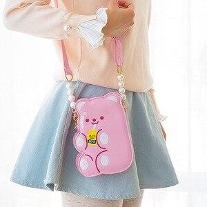 Image 2 - Сумка Кроссбоди Bentoy из искусственной кожи для девочек, сумка Органайзер для телефона, сумка через плечо, милый лазерный подарок для девочек подростков