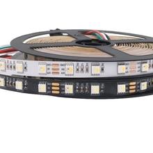 5v sk6812 rgbw conduziu a luz de tira (ws2812b semelhante) 5m 60leds individuais endereçáveis rgbww conduziu luzes ip20/65/67