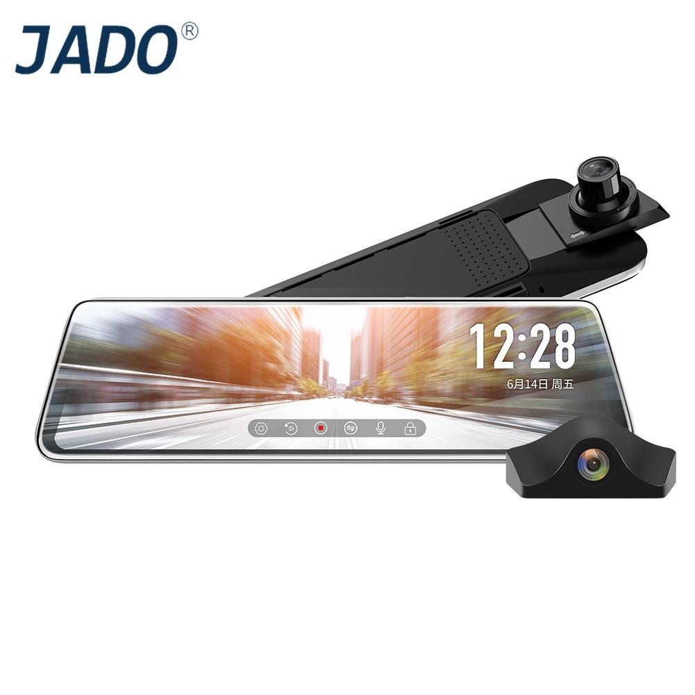 JADO Car DVR Rearview-Mirror-Camera Dash-Cam Parking-Monitor Car-Video-Recorder Touch-Screen