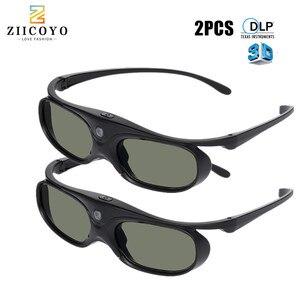 Image 1 - 2 sztuk aktywna migawka 96 144HZ akumulator 3D okulary dla BenQ Acer X118H P1502 X1123H H6517ABD Optoma JmGo V8 XGIMI projektor