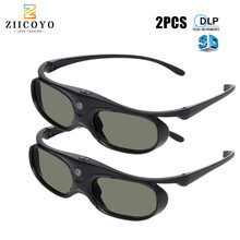 2PCS Universal DLP Active Shutter 3D Glasses 96 144Hz For XGIMI Optoma Acer Viewsonic Home Theater BenQ Dell Projector 3D TV