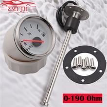 52MM Fuel Level Gauge with Fuel Level Sensor 100 125 150 200 250 400 600MM 0 190ohm Oil Liquid Tank Fuel Level Indicator Unit