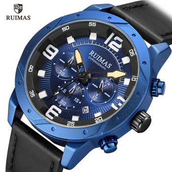 RUIMAS Men Watches Leather Strap 595