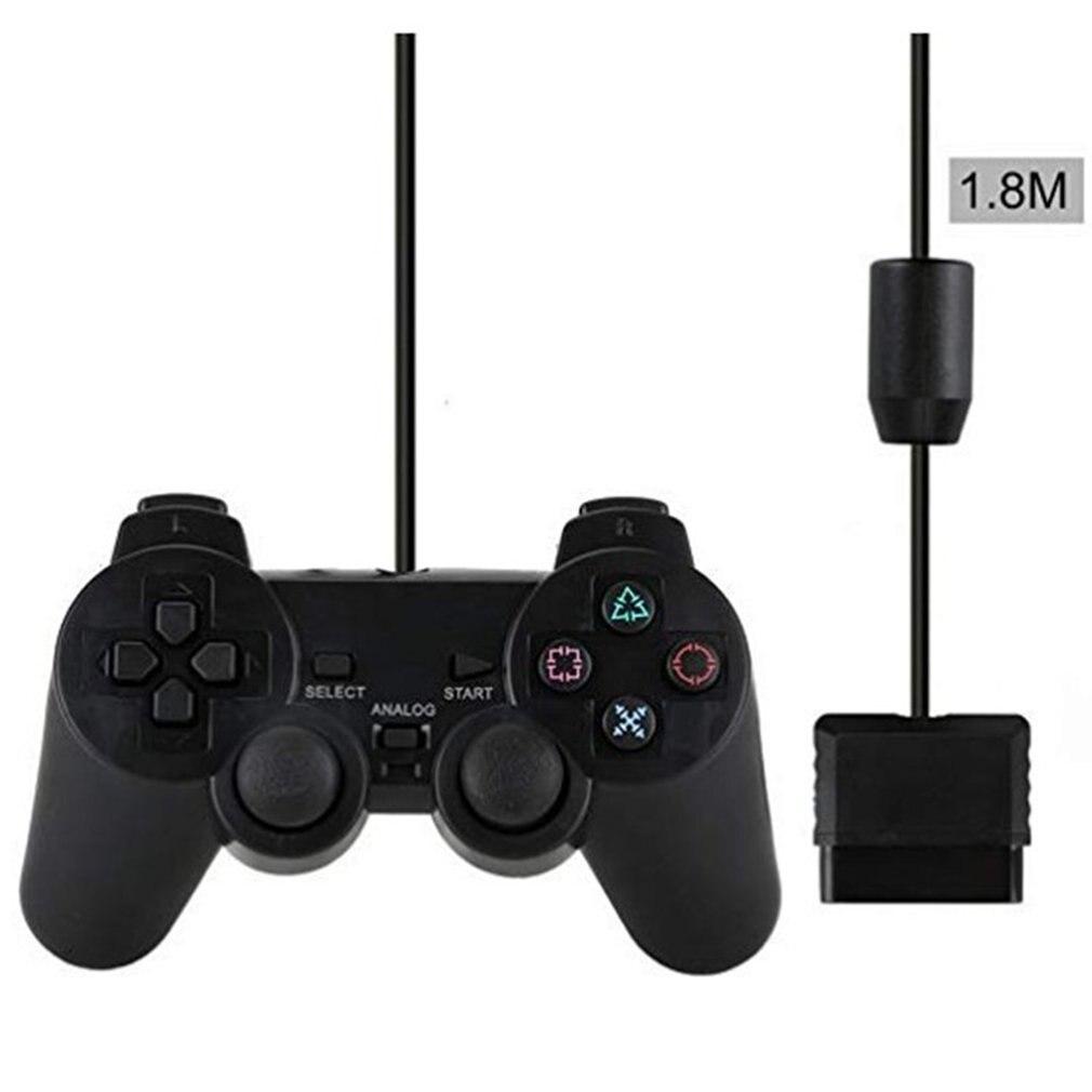 Проводной геймпад для Sony PS2 контроллер для Mando PS2/PS2 джойстик для plasystation 2 Двойной вибрационный ударный джойстик проводной контроллер