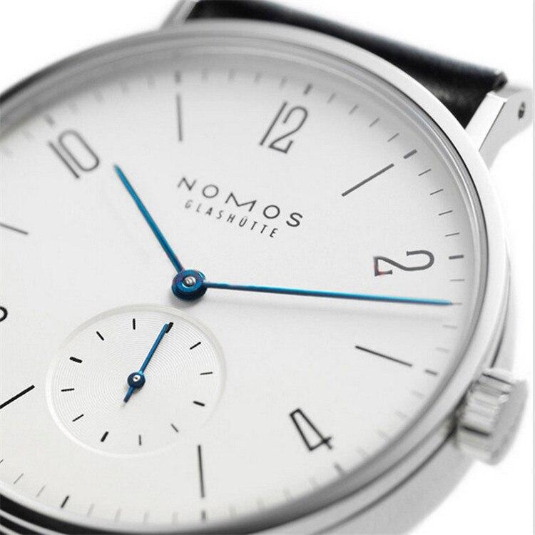 Hot Selling Nomos Watch Thefifth Watch Quartz Two Needle Half Leather Watch Strap Watch MEN'S Quartz Watch