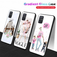 baby Mom and Queen black girl Tempered Glass Phone Case for Samsung Galaxy A10 A20 A30 A40 A50 A70 A51 A71 A81 A91 A01 M31 Cover