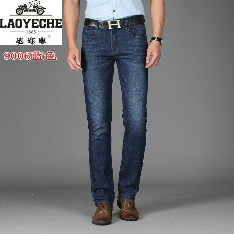 Lyc-6-Classic Car MEN'S Jeans Elasticity Slim Fit Men Straight-Cut Cowboy Trousers Men's