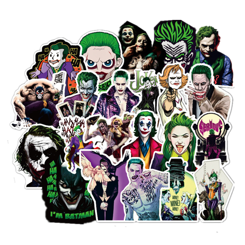 100PCS The Joker Anime Stickers Cartoon Clown Style For Case Laptop Motorcycle Skateboard Luggage Decal Children Toy Sticker