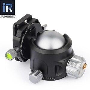Image 3 - Low Center of Gravity 52mm 44mm 36mm tripod Ballhead Double U Notch ultra low profile Damping setting CNC ball head heavy duty