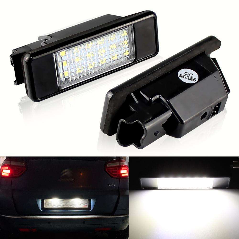 2X заднего 18 светодиодный SMD номерной знак светильник 6000K для Peugeot 106 207 307 308 для CITROEN C3 C4 C5 C6 C8