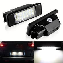 2X z tyłu samochodu 18 LED SMD światło do tablicy rejestracyjnej lampa 6000K dla Peugeot 106 207 307 308 dla CITROEN C3 C4 C5 C6 C8