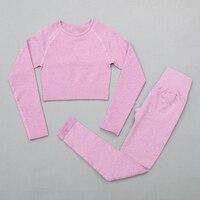 ShirtsPantsPurple - Women's sportswear Seamless Fitness Yoga Suit High Stretchy