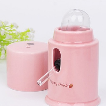 Hamster Water Dispenser Automatic Ceramics Drinking Bottle Device Small Animals Parrots Birds Leak-Proof Quiet Hydrate Feeder 3