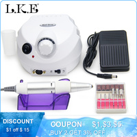 35000RPM Pro Electric Nail Drill Machine Electric Manicure Machine Drills Pedicure With Cutter Nail Drill Machine Kit Nail Tools