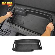 BAWA Trunk Storage Mat Pad Rubber for Jeep wrangler Sahara jl 2018 2019 Trunk Cargo Tray Mat