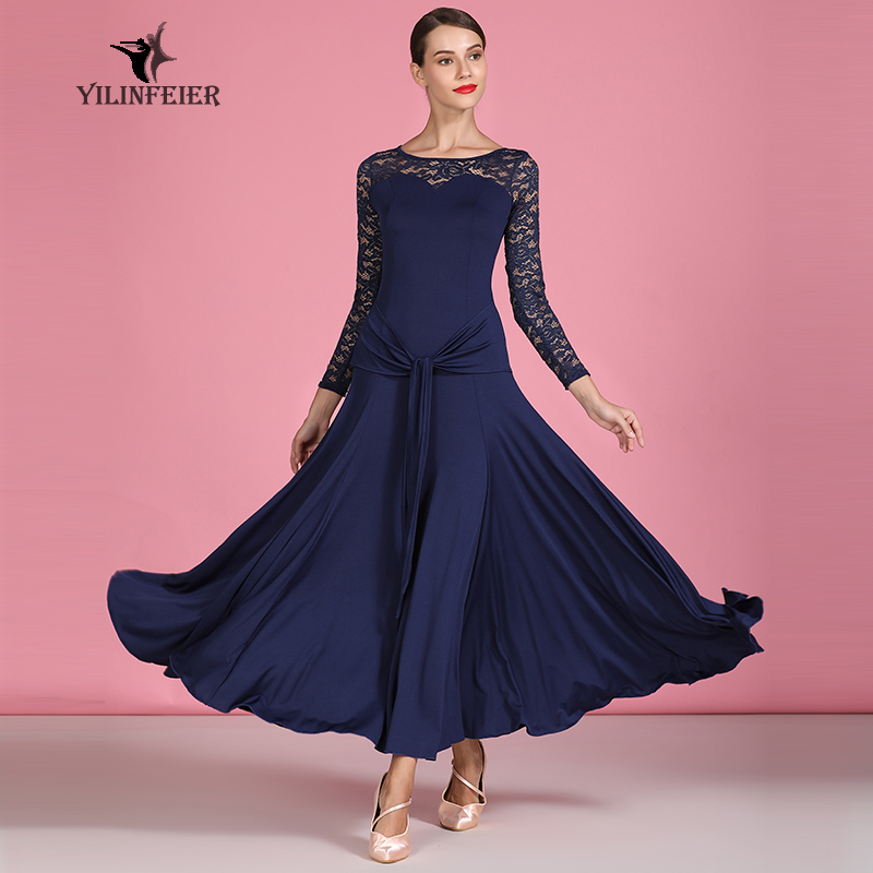 New Ballroom Dance Competition Dress Dance Ballroom Waltz Dresses Standard Dance Dress Women Ballroom Dress S9064