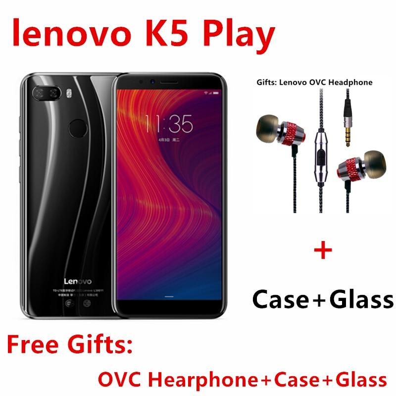 Global Firmware Lenovo K5 Play 3G 32G ZUI 3.7 4G FDD LTE 1440x720 Fingerprint Octa-core Dual SIM Dual Camera 5.7 Inch Cell Phone