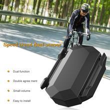 цена на 2-in-1 Bike Speed Sensor and Cadence Sensor Waterproof Bike Cadence Sensor Wireless Bicycle RPM Sensor for iPhone Android Bike C