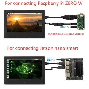Image 3 - 7 بوصة التوت بي 3 شاشة تعمل باللمس 1024*600 شاشة الكريستال السائل ل التوت بي 3 نموذج B HDMI واجهة TFT العرض