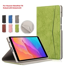 For Huawei MatePad T8 Case 8.0 2020 PU Leather Flip Tablet Case for Huawei MatePad T8 Kobe2-L09 Kobe2-L03 8 Tablet Cover Film чехол zibelino tablet для huawei matepad t8 8 0 inch black zt hua t8 8 0 blk