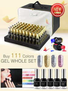 Venalisa Gel Colors Nail-Varnish-Set Manicure-Gel-Nail-Polish-Gift-Kit Book/Bag 12ml