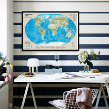 90*60cm The World Dynamic Plate Tectonics Map for Geological Research Canvas Painting Wall Poster School Supplies Home Decor