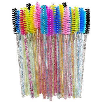50Pcs Disposable Eyelash Brushes Eyelashes Extension Tools Eyebrow Brush Mascara Wands Applicator Spoolers Eye Lashes Cosmetic