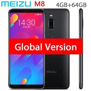 Image 1 - Original meizu m8 v8 versão global 4 gb 64 gb mtk helio p22 octa núcleo do telefone móvel 5.7 polegada tela duplo sim celular