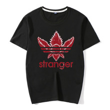 New Street Brand Stranger Things O-Neck 100% Cotton T Shirt Men Funny Strange DEMOGORGON T-shirt Plus Size Clothing