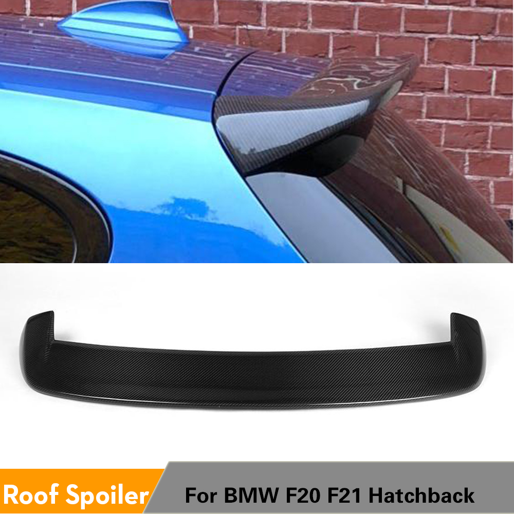 Rear Roof Spoiler Window Wing Lip for BMW F20 F21 2012 - 2018 118i 120i M135i M140i Spoiler Carbon Fiber / FRP